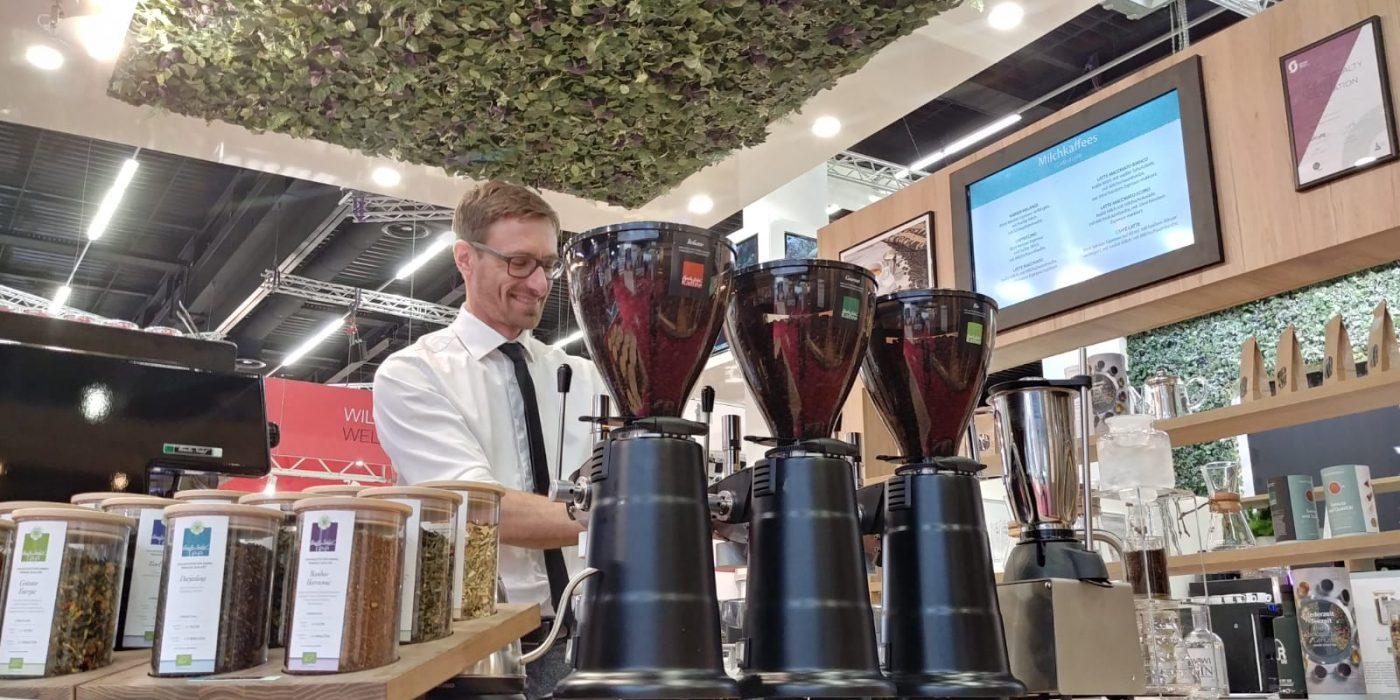 Familie Schärf Kaffee Messestand